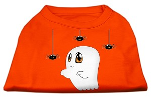 Sammy the Ghost Screen Print Dog Shirt Orange XL (16)